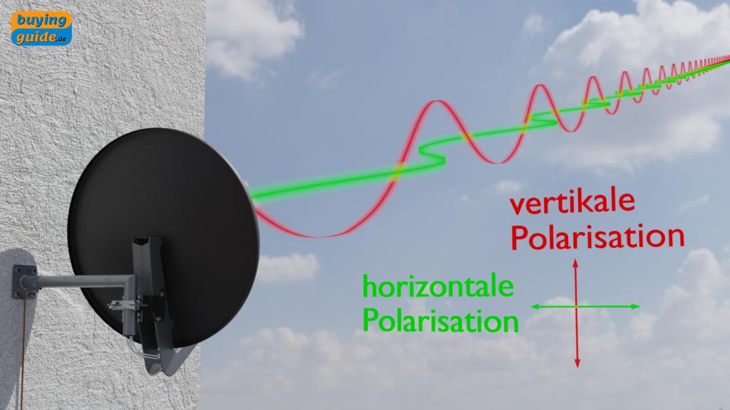 Vertikal und horizontal polarisierte Wellen (Empfangsebenen)