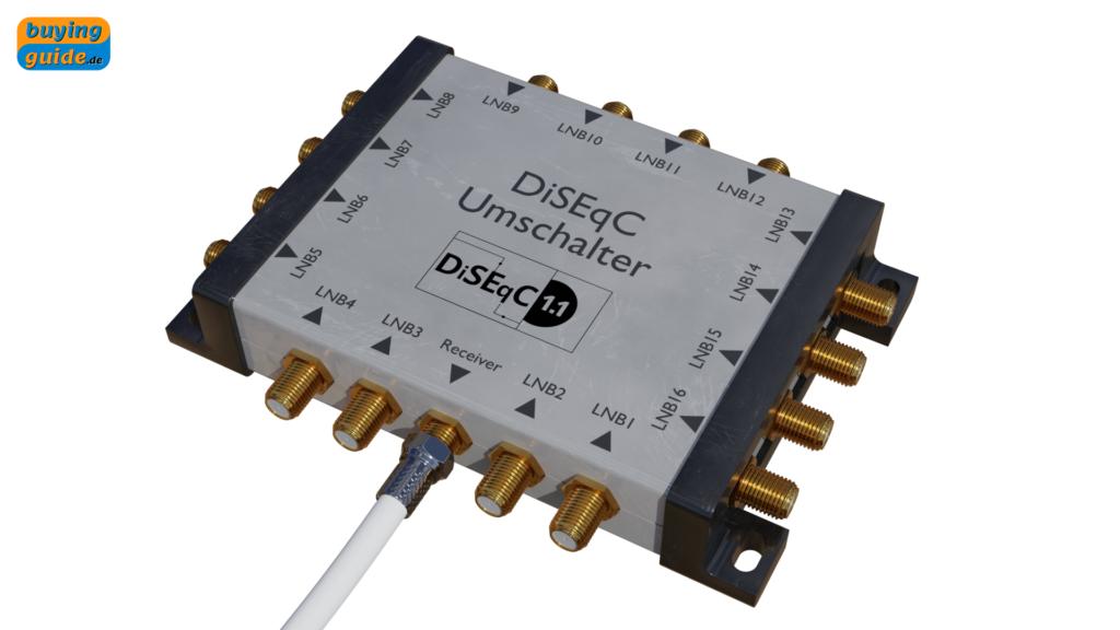 DiSEqC-Schalter zur Umschaltung zwischen 16 LNBs (Version 1.1)