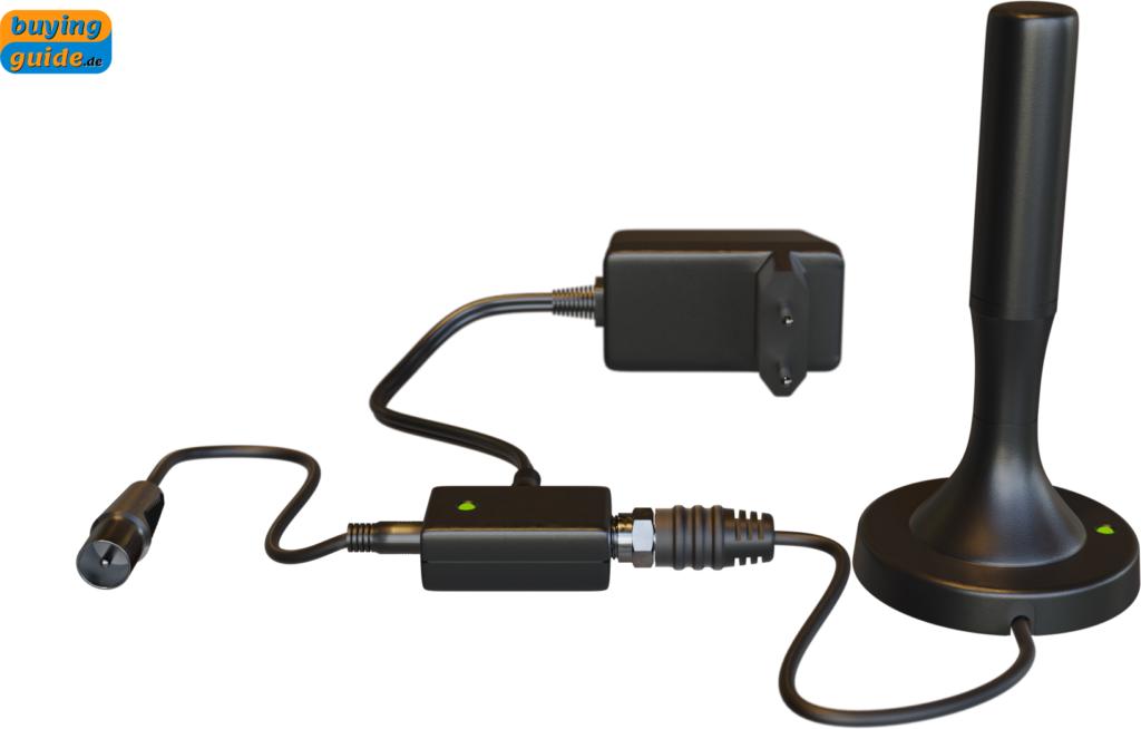Aktive DVB-T2-Zimmerantenne (Stabantenne)