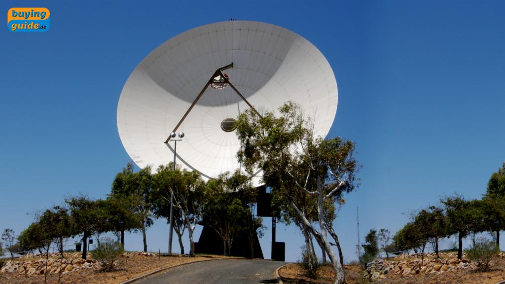 Zentral-gespeiste Parabol-Antenne ohne Offset